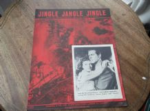 VINTAGE ORIGINAL SHEET MUSIC 1952 JINGLE JANGLE JINGLE FOREST RANGER HAYWARD